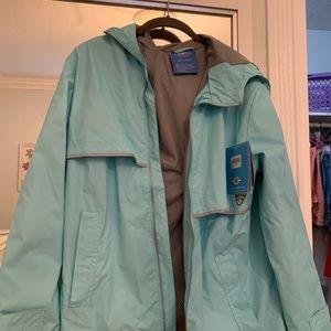 Aqua Blue Raincoat